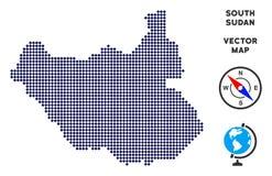 Dot South Sudan Map vector illustratie