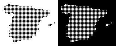 Dot Spain Map vektor abbildung