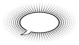 Dot Speech Bubble retro Fotos de archivo