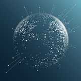Dot sphere effect Stock Image