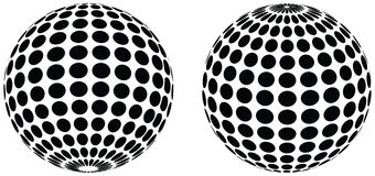 Dot spheres Royalty Free Stock Image