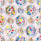 Dot symmetry seamless pattern. Illustration abstract colorful dotted symmetry lines seamless pattern graphic art element texture background Stock Image