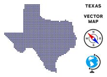 Dot Texas Map royalty-vrije illustratie