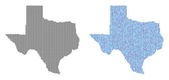 Dot Texas Map Abstractions Royalty-vrije Illustratie