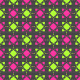 Dot textured pattern with pink and bright green Stock Images