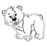 Dot to dot bear game. Stock Photo