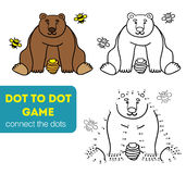 Dot to dot games. Coloring and dot to dot educational game for kids. Cartoon character Royalty Free Stock Photography