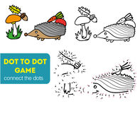 Dot to dot games. Coloring and dot to dot educational game for kids. Cartoon character Stock Image