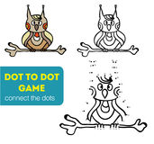 Dot to dot children game. Coloring and dot to dot educational game for kids. Royalty Free Stock Photo
