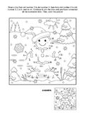 Dot-to-dot and coloring page with ginger man