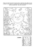 Dot-to-dot and coloring page with panda bear Stock Images