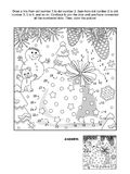 Dot-to-dot and coloring page with Santa`s sack Royalty Free Stock Images