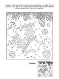 Dot-to-dot and coloring page with socks Stock Images