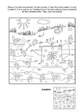 Dot-to-dot and coloring page with watering can Stock Photos