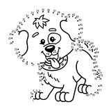 Dot to dot dog game. Stock Photos