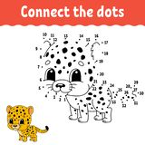 Dot to dot. Draw a line. Handwriting practice. Learning numbers for kids. Education developing worksheet. Activity page. Game for stock illustration