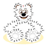Dot to dot game. A funny game for children: What is that? Connect the dots to see the result Royalty Free Stock Image