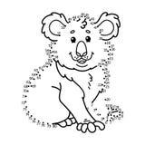 Dot to dot koala game. Royalty Free Stock Image