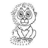 Dot to dot monkey game. Stock Photography