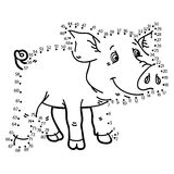 Dot to dot pig game. Stock Photo