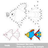 Dot to dot trace game for kids Stock Images