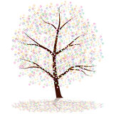 Dot Tree Royalty Free Stock Image
