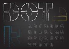 Dot vector font set Stock Images