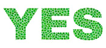 YES Text in Dot Style royalty free illustration