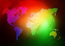 Dot World map business background Royalty Free Stock Image