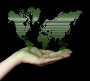 Dot World map business background Stock Image