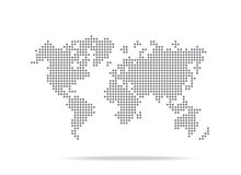 Dot  world map isolated on the white background Stock Photos