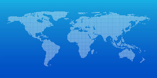 Dot World maps and globes business background, Vector illustration Stock Image