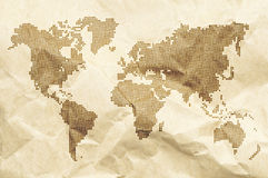Dot World old style map background Stock Photo