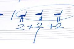 dotaci instrumentów musical zauważa sztuka Obraz Stock