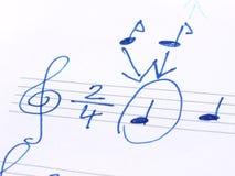 dotaci instrumentów musical zauważa sztuka Zdjęcia Stock