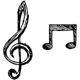 dotaci instrumentów musical zauważa sztuka wektor Obraz Stock
