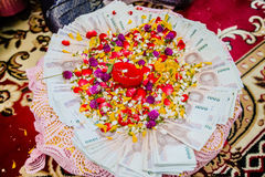 Dote nelle nozze tradizionali tailandesi Fotografie Stock Libere da Diritti