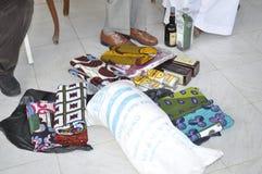 Dote, un elemento clave en boda tradicional en África Imagen de archivo libre de regalías