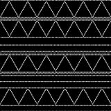 Doted triangle geometric seamless pattern in black and white, vector Stock Image