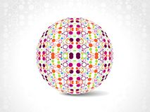 Dotes retro party background with disco ball, Royalty Free Stock Image