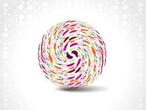 Dotes retro party background with disco ball, Stock Image