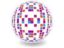 Dotes retro party background with disco ball Royalty Free Stock Photo