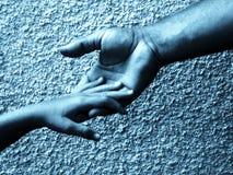 dotknąć dłoni zdjęcie royalty free