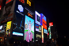 Dotonbori area for travel visit looking Billboard advertising an Stock Images