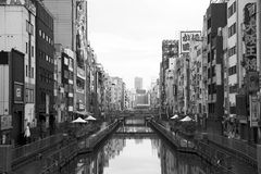 Dotonbori canal Royalty Free Stock Photography