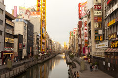 Dotonbori canal Royalty Free Stock Images