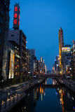 Dotonbori canal in Osaka Stock Image