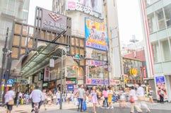 Dotonbori entertainment district royalty free stock images