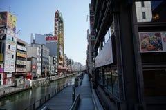 Dotonbori-Fluss, Osaka, Japan Lizenzfreie Stockfotos