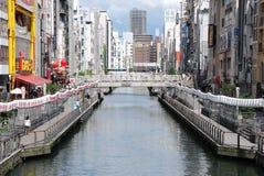 Dotonbori-Fluss in Osaka von Japan Lizenzfreies Stockbild